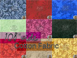 "108"" WIDE  - 100% Cotton Fabric"