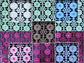 Guipure Lace Floral Apple Blossom Fabrics