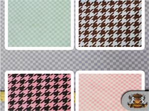 Minky Checkers & Hounds Tooth Print Fabrics