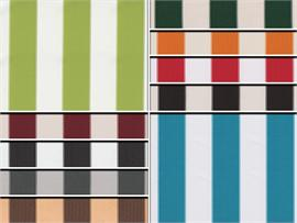Waterproof Bordered Deck Stripe Fabrics