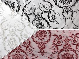 Organza Flocking Damask Fabrics