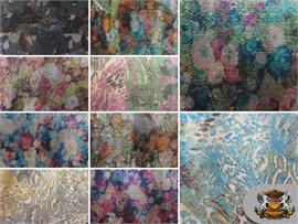 Sequin Multicolor Print Fabrics