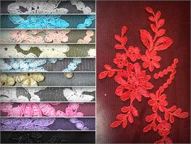 Mesh Lace Embroidery QUINCE Fabrics