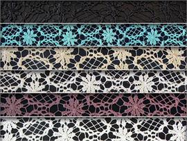 Guipure Lace Floral Narcissus Fabrics