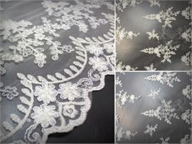 Mesh Embroidered Lurex Fabric