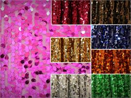 Sequin Micro Teardrop Dangle Fabric