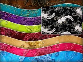 Mesh Sequin Embroidery Lace Fabric Maxima