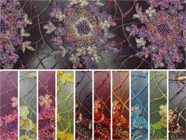 Mesh Lace Embroidered Floral Hand Beaded Fabrics