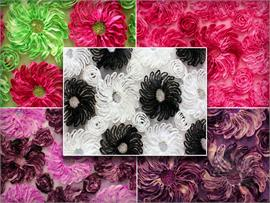Mesh Sequin 2 Tone Flower Power Fabrics