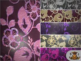 Mesh Sequin Bloomings Fabric