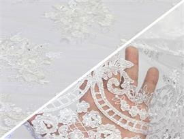 Mesh Fabric Chantilly Embroidered