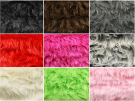 Faux Fur Long Pile MONKEY Shaggy Fabrics
