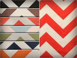 Satin Polyester Chevron Fabric