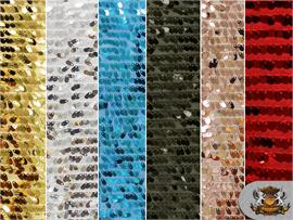 Sequin Small Stretch Oval Teardrop Fabric