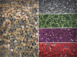 Sequin Strands Spider Mesh Fabric
