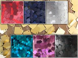 Sequin Square Dangle Tulle Fabrics