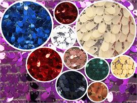 Small Sequin Micro Teardrop Dangle Fabric