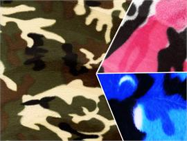 Velboa Faux Fake Fur Camouflage Fabric