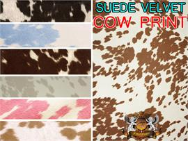 Suede Velvet Cow print fabric Udder Madness Upholstery