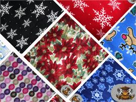 fleece fabric printed christmas