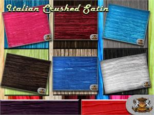 Italian Crushed Satin Fabrics