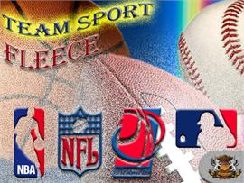 NBA, MLB, NCAA and NFL Fleece Fabrics