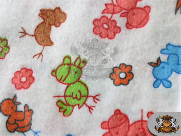 Cotton flannel neon baby ducks red fabric 45 wide for Children s flannel fabric by the yard