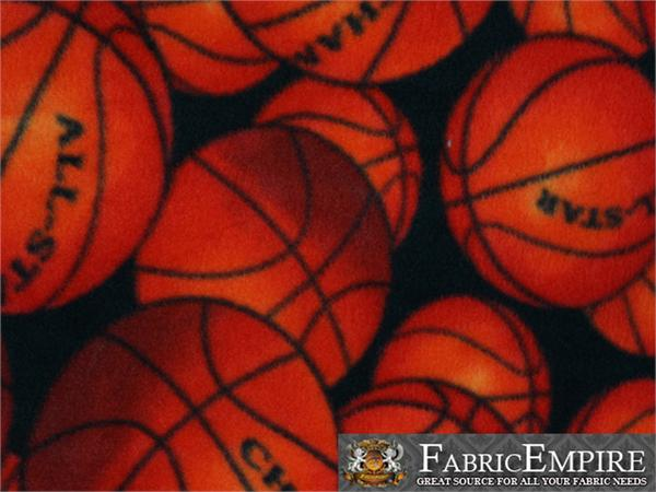 Fleece Printed Fabric Basketball All Star 58 Quot Wide