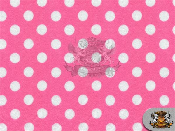 "Minky Minnie Polka Dots LIGHT PINK WHITE Fabric 60/"" Wide Sold by the yard"