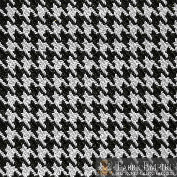 Black White Houndstooth Automotive Retro Headliner Material Fabric