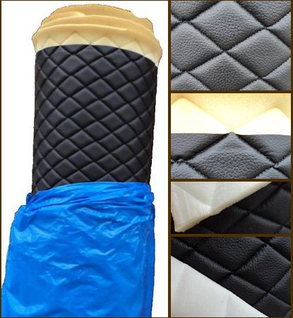 Vinyl Quilted BLACK Fabric w/ 3/8  FOAM BACKING Upholstery : quilted vinyl - Adamdwight.com