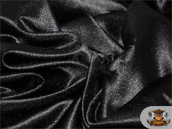 Satin L Amour Solid Fabric Black Swatch