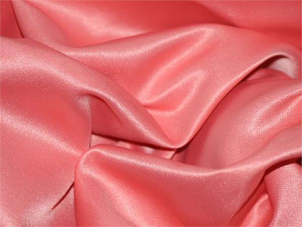 "Satin L/'amour Solid Fabric HOT PINK Sold by the yard 60/"" Wide"