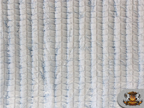 MINKY LONG PILE GROOVED SKYBLUE FABRIC BY THE YARD