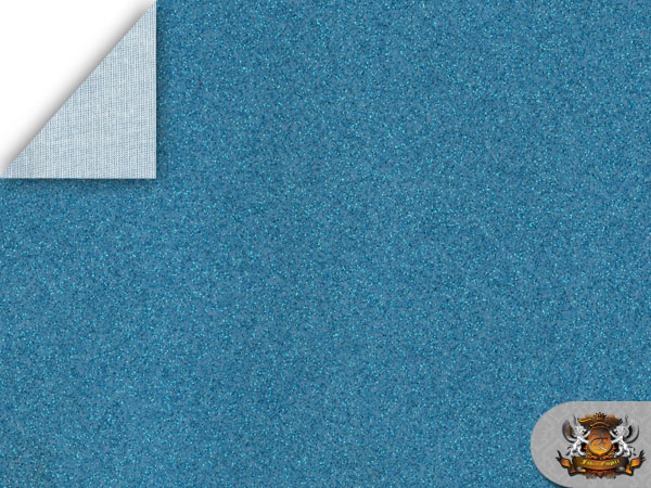 Vinyl Tolex Fabric Sparkle Aqua Blue Fake Leather Upholstery Sold