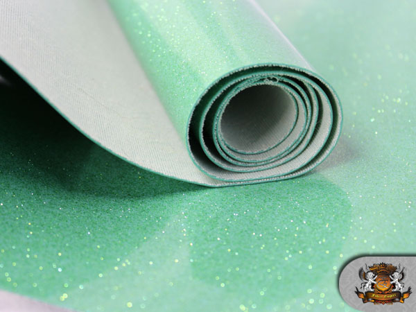 Vinyl Tolex Fabric Sparkle Mint Fake Leather Upholstery Sold By The Yard