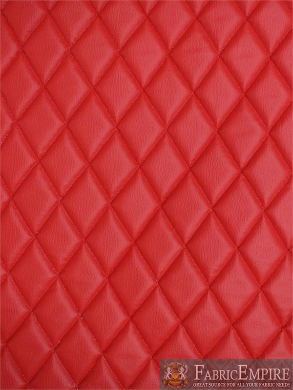 Vinyl Grain Texture Quilted Foam Red Fabric 2 X 3 Diamond With 3