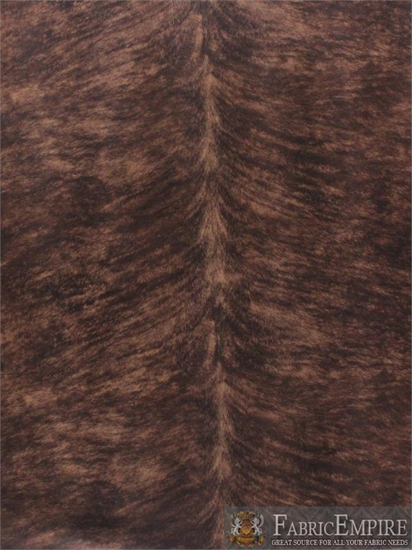 Uede Velvet Horse Belly Print Fabric Roadhouse Upholstery Chestnut
