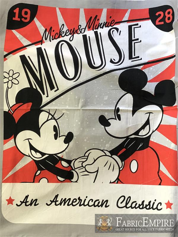 DISNEY CLASSIC MICKEY MOUSE FABRIC  QUILTING MATERIAL 100/% COTTON  BY THE YARD