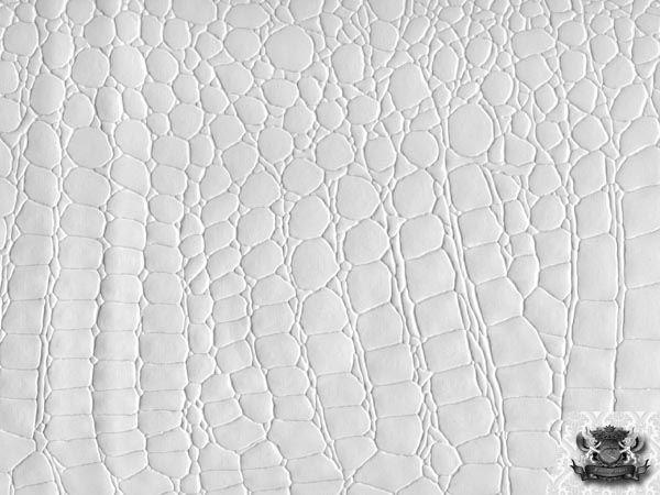 Crocodile Vinyl White Fabric Faux Leather Upholstery Ebay