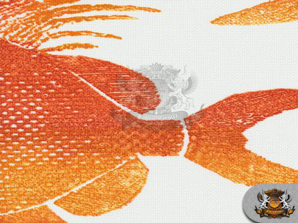 printed indoor outdoor waterproof odl fish orange fabric 54 w sold by the yard. Black Bedroom Furniture Sets. Home Design Ideas