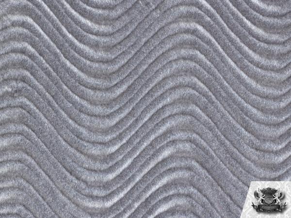 Velvet Flocking Swirl Silver Upholstery Fabric Bty