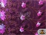 Guipure Floral Lurex Fabric