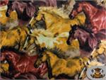 Horse Pattern Fleece Fabric