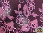Mesh Sequin Floral Fabric