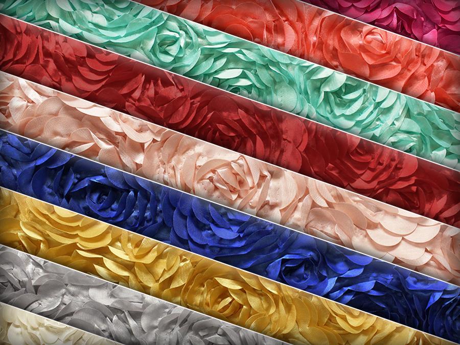 Satin Bridal Petal Rosette Floral Fabric 52 Quot Wide Sold