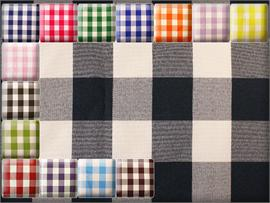 Poly Poplin Checkered Fabrics
