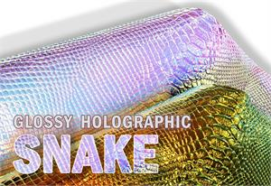 Vinyl Snake Holographic Fabric