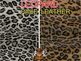 Vinyl Animal Upholstery Leopard Fabric