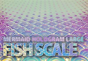 Holographic Mermaid Large Fish Scale